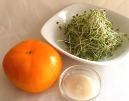 スプラウトと柿の超簡単サラダsprout3[1]