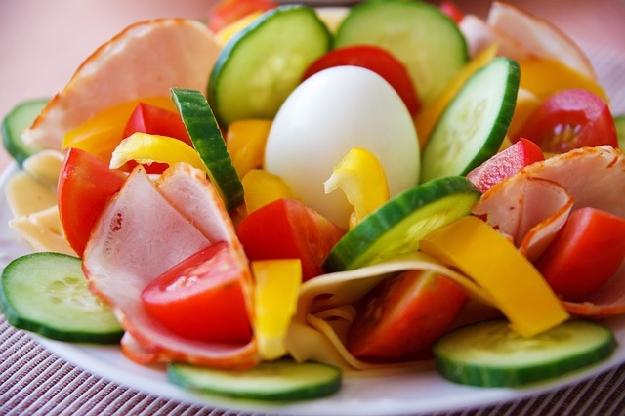 朝食に野菜
