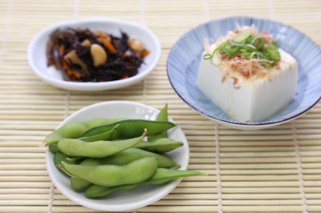 枝豆と豆腐